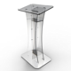 Plexiglass Acrylic Podium Clear Lectern Church Pulpit