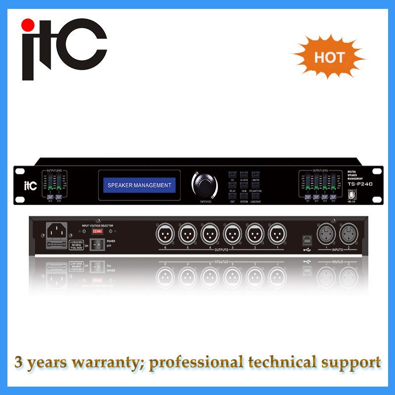 Professional digital sound audio processor with 32 bit DSP