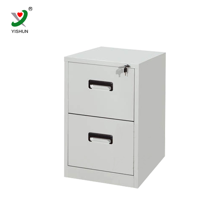 Small metal vertical office furniture 2 drawer filing cabinet