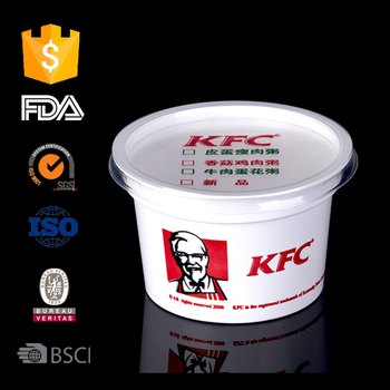 Disposable food container with lid