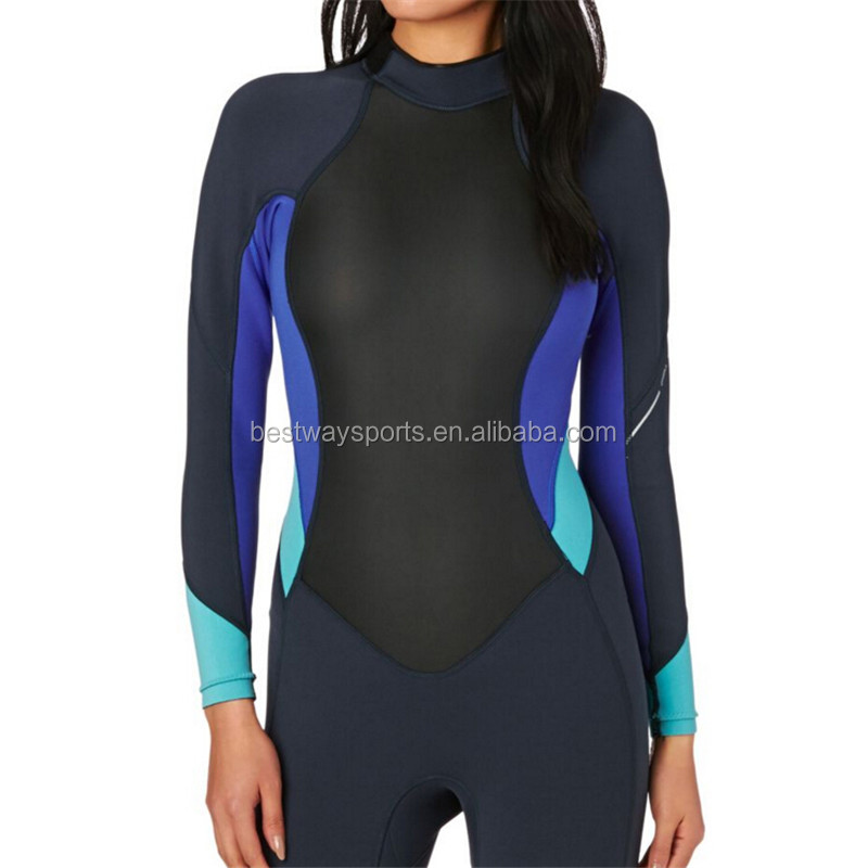 Women Long Sleeve Shark Skin Neoprene Shorty Wetsuit Surf Kleding ... 4f412d5a8