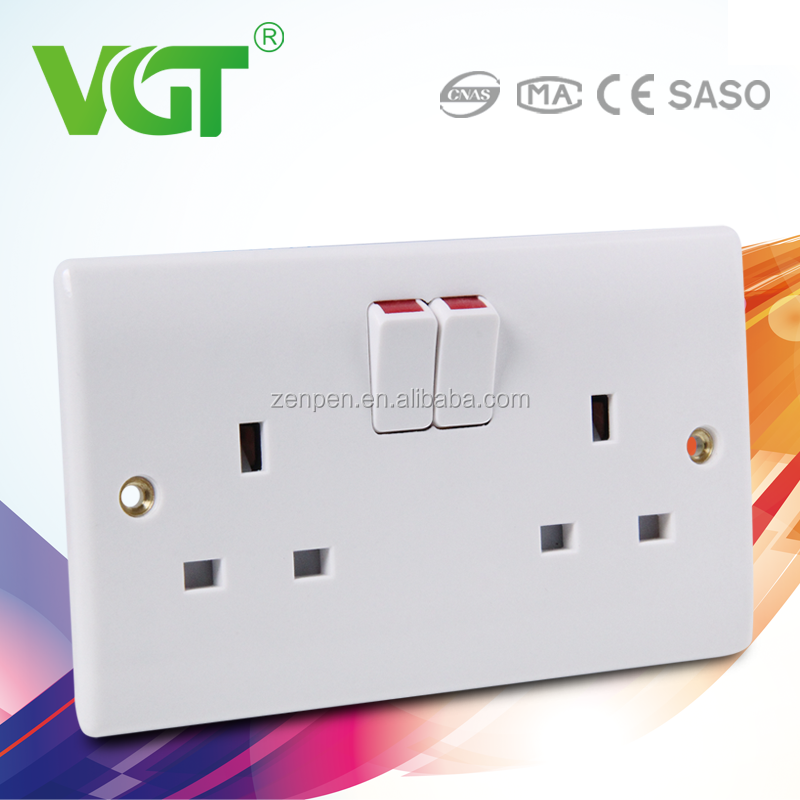 250v 13a multi socket & 2 + 1 switch with light power socket in pakistan