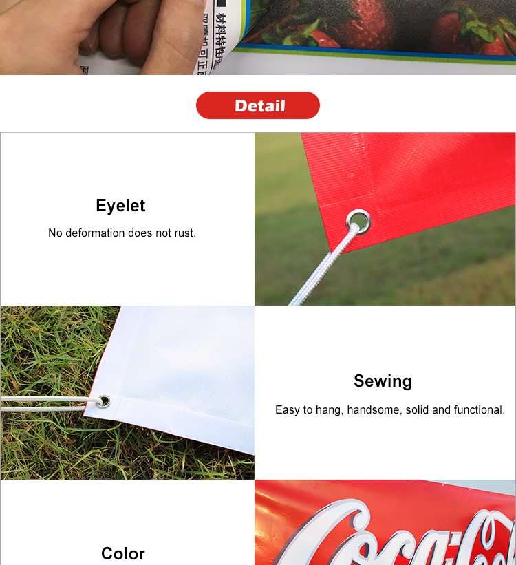 Competitive Price Decoration /Advertising Various Sizes PVC Vinyl Hanging Scroll Banner