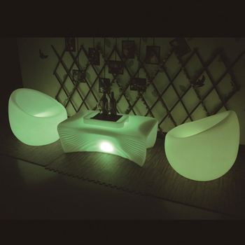 salon lounge furniture / led sofa sets