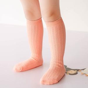 68ab518e256 girls knee socks. high quality Wholesale new design ribbed no bone pure  cotton knit new born baby boy girl