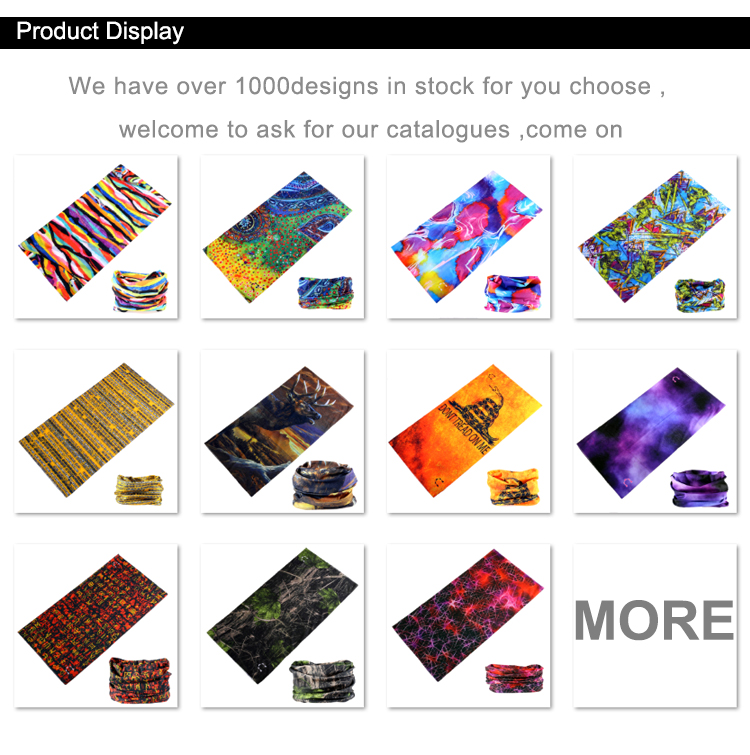 Promotional Custom Logo Printed Multifunctional Bandana Headwear