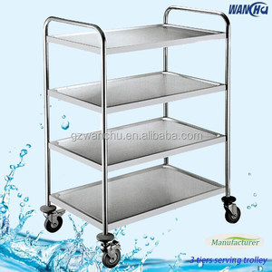 Stainless Steel Hotel Service Cart/Restaurant Service Trolley