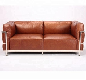Scandinavian style feather version LC3 sofa 3 seater