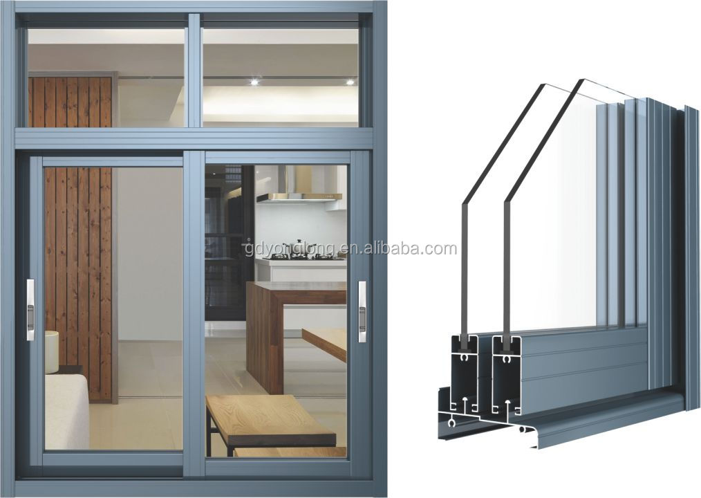 Aluminum Slider Windows : Aluminum profile for sliding windows to nigeria buy