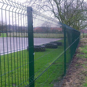 Double Wire Fencing/Perimeter Security Fencing /Galvanized and PVC Coated  Double Wire Mesh Fence