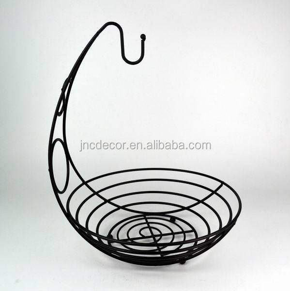 Fancy modern design home kitchen accessories metal wire fruit basket