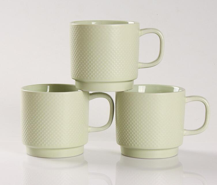 Modern Design 200ml Ceramic Coffee Mug In Different Colors