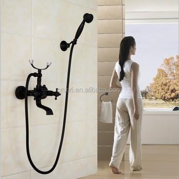 Copper Black Bathroom Telephone Shower Set Ab001 - Buy Telephone ...