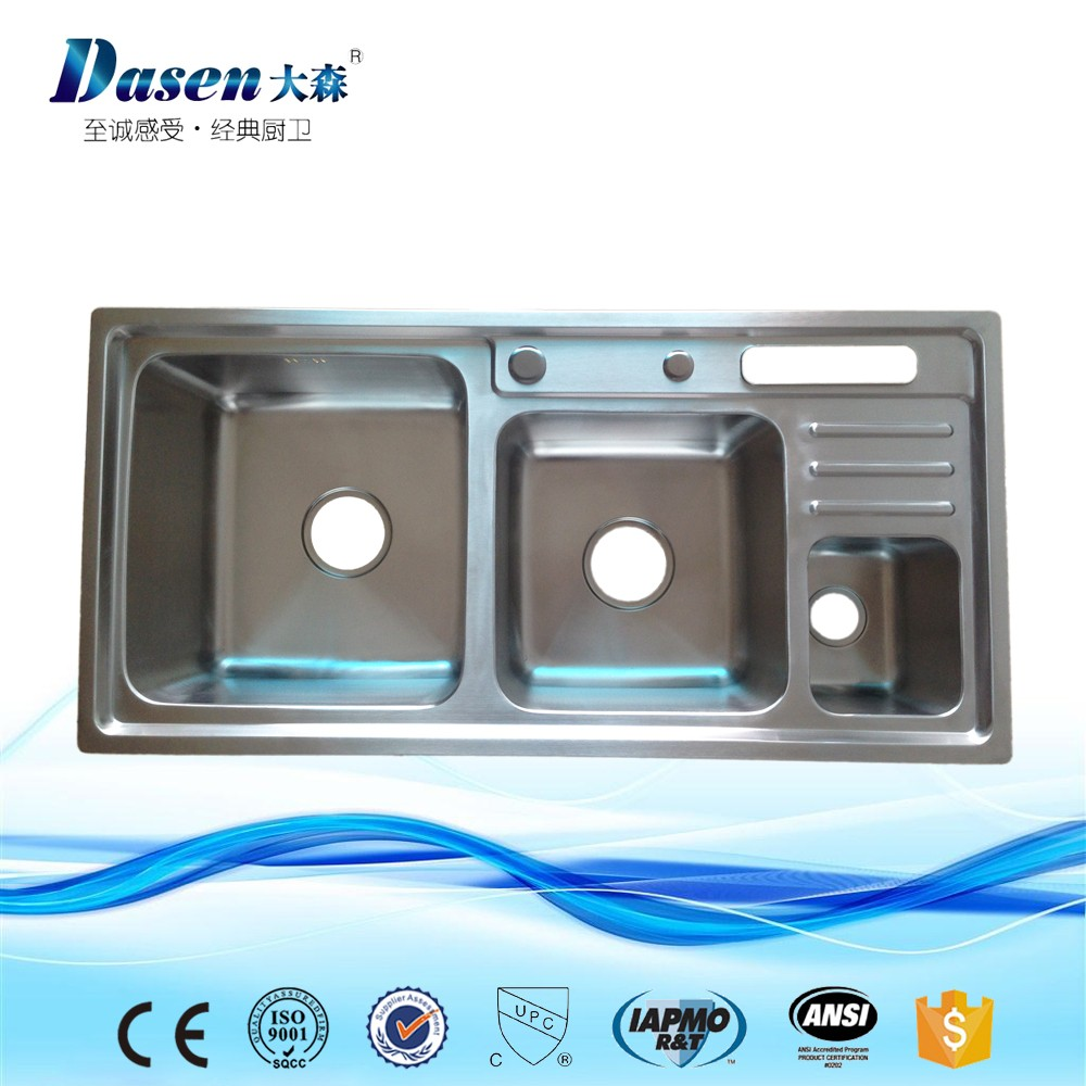 Ds9245 Manufacturer Supply Kitchen Ware Double Stainless Steel Sink ...