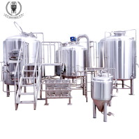 Professional Industrial Automatic China Turnkey Commercial Restaurant Nano Micro 500L 1000L Craft Beer Brewing Equipment