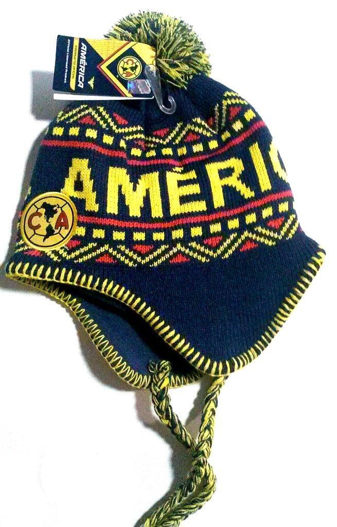 847a0abe1a9 Get Quotations · Club America Peruvian Soccer Blue Beanie Ski Hat