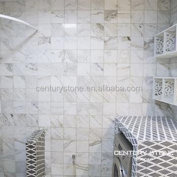 Badkamer Ontwerp Marmeren Tegels Mozaïeken Anti- Slip Zwart En Wit ...