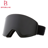 Frameless Anti Fog Double-layer Removable Lens Skiing Glass Magnetic Magnet Snow Goggle