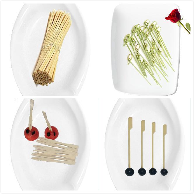Flower dekoresan bamboo sticks arranging stick flexible flat gun skewer for bbq battery motor