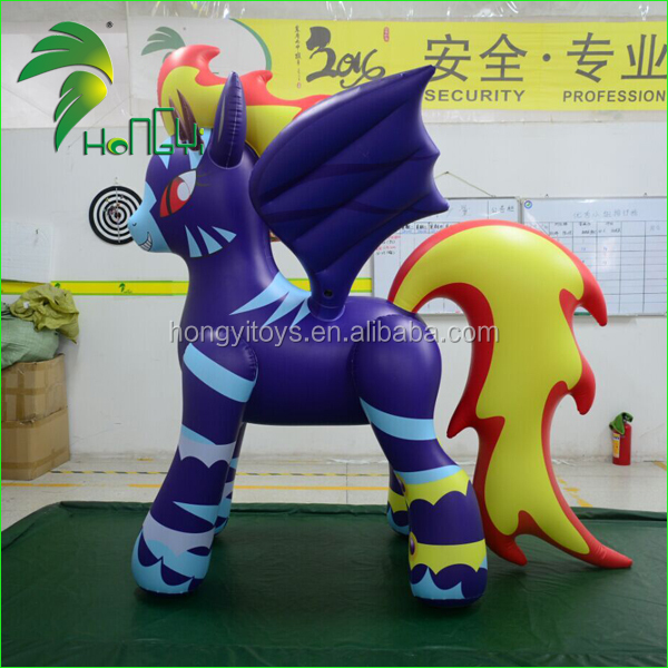 New Design Hongyi Cartoon Type Inflatable Horse Toy For Party