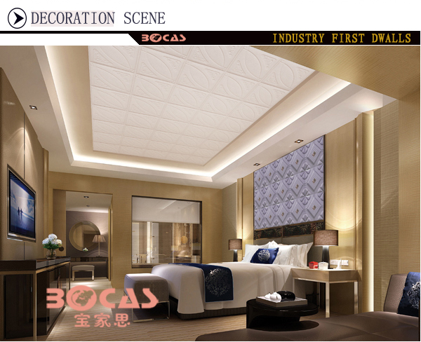 400*400mm 3d Leather Wall Panel&hot Stamping Instead Of Gypsum ...