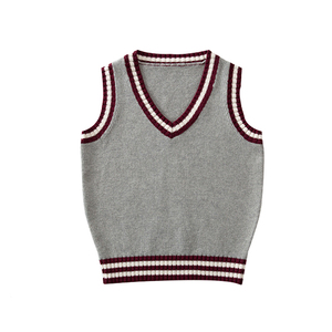 Hot Selling Primary School Uniform Stripes Vest Custom by Factory