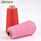 Acceptable price red dyed weaving yarn buyers NE 12S regenerated cotton polyester weaving yarn