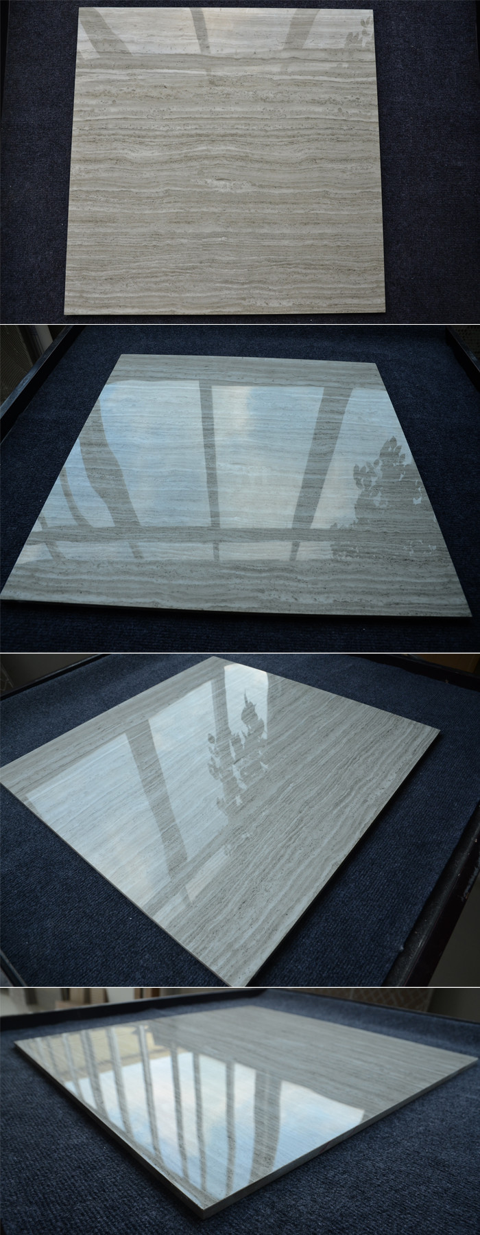Gray Wood Line Ceramic Tiles Guangdong China Venetian Stone Verified Tile
