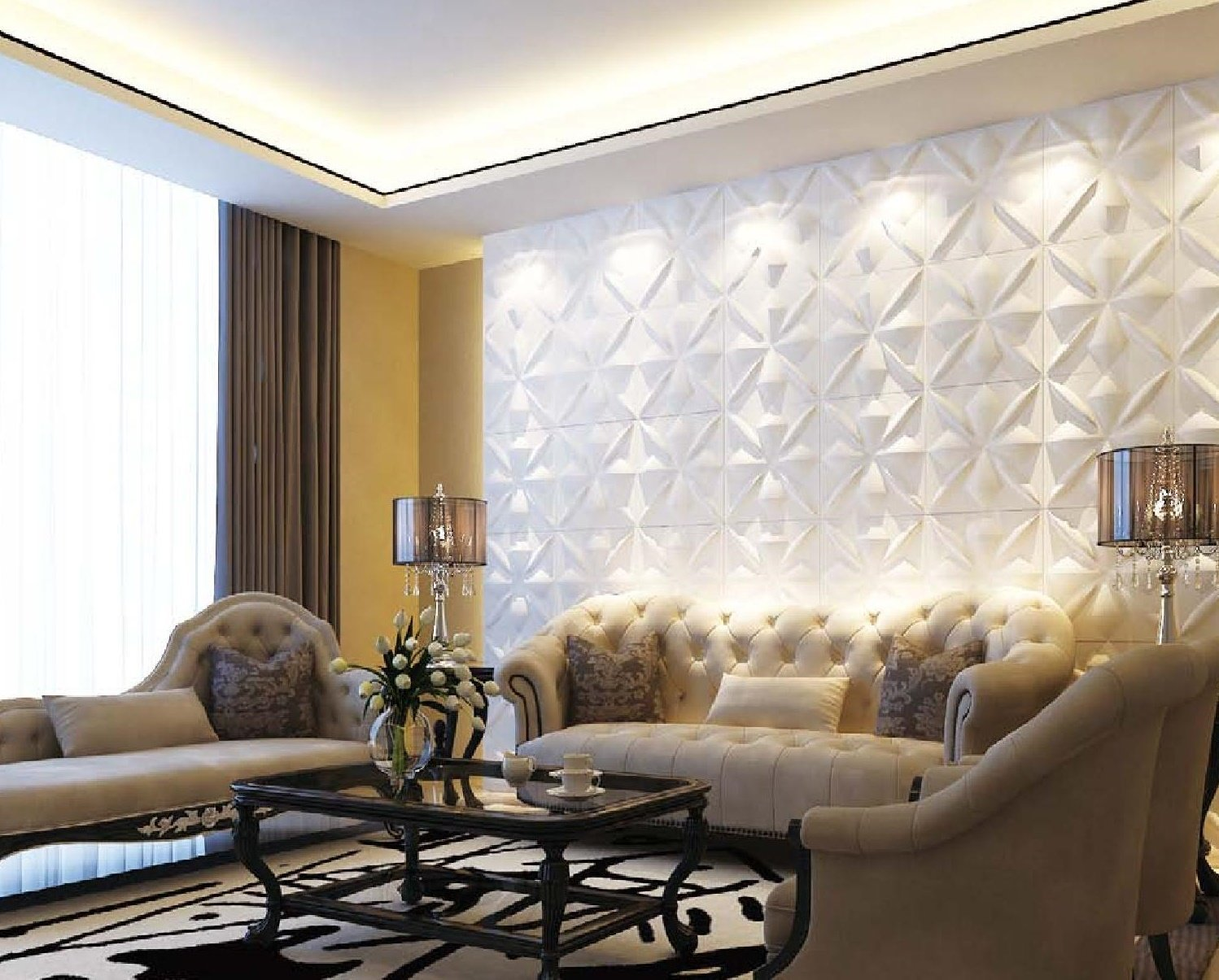 Affordable Home Innovations Modern Kingdom 3d Wall Panels Eco-friendly 32 Sq Ft