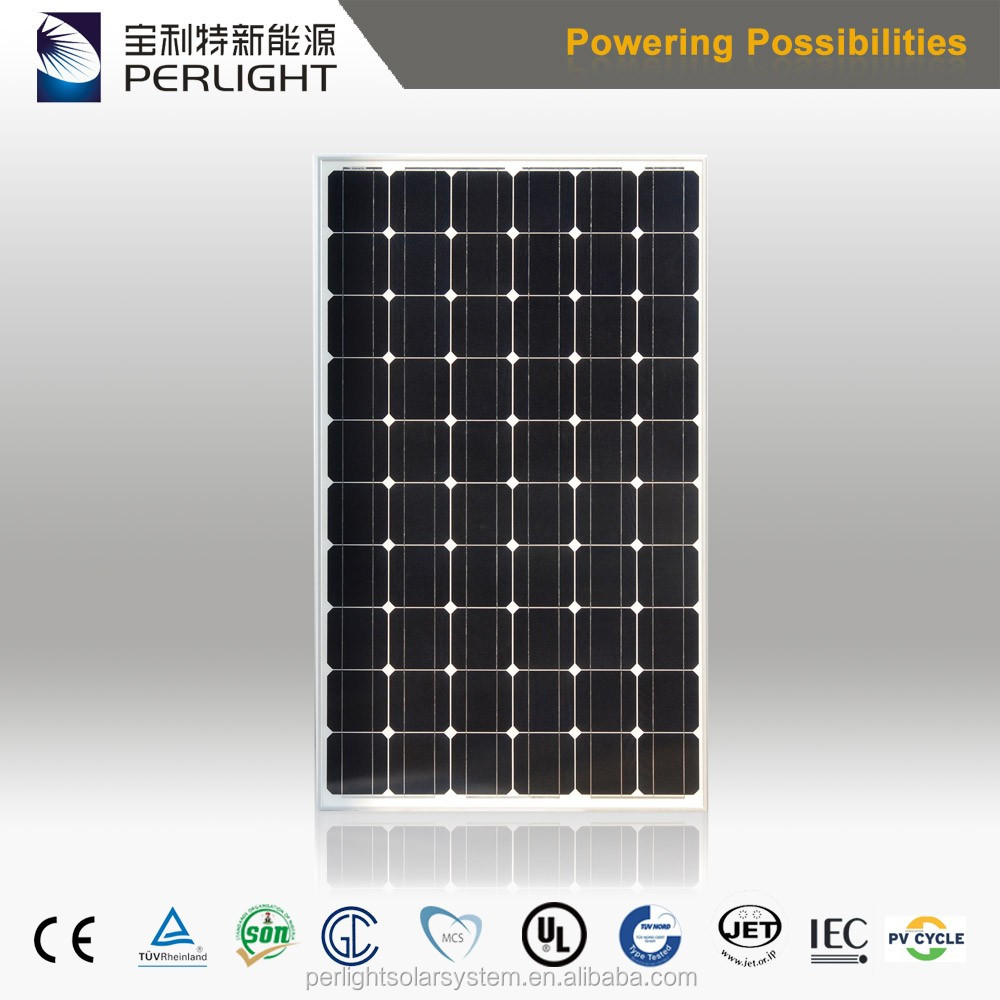 China Supplier Good Quality Monocrystalline Silicon Material PV 290w 300w Solar Panel Home