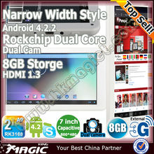 "Cheapest android 7"" RK3168 cortex a9 dual core tablet pc"