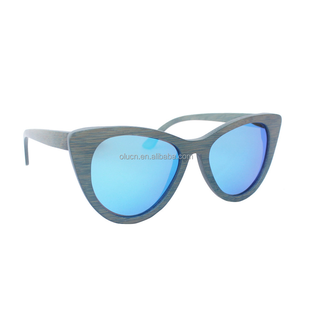 stained bamboo polarized sunglasses