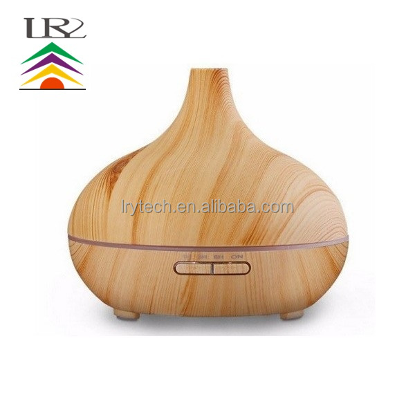 Factory wholesale essential oil diffuser 300ml r wooden <strong>grain</strong> for office bedroom