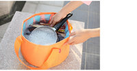 Camp bucket for washing dishes, hauling water, and washing clothes