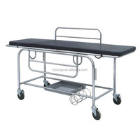Portable low price hospital equipment patient trolley for transfer