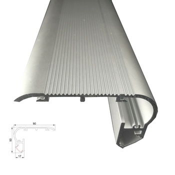 Customized Grooved Stair Nosing Edge Led Aluminum Profiles