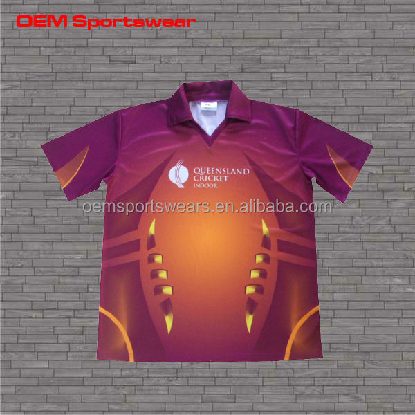 d118743efed7cc Custom Sublimation Cricket Jersey Pattern cricket Team Names Jersey ...