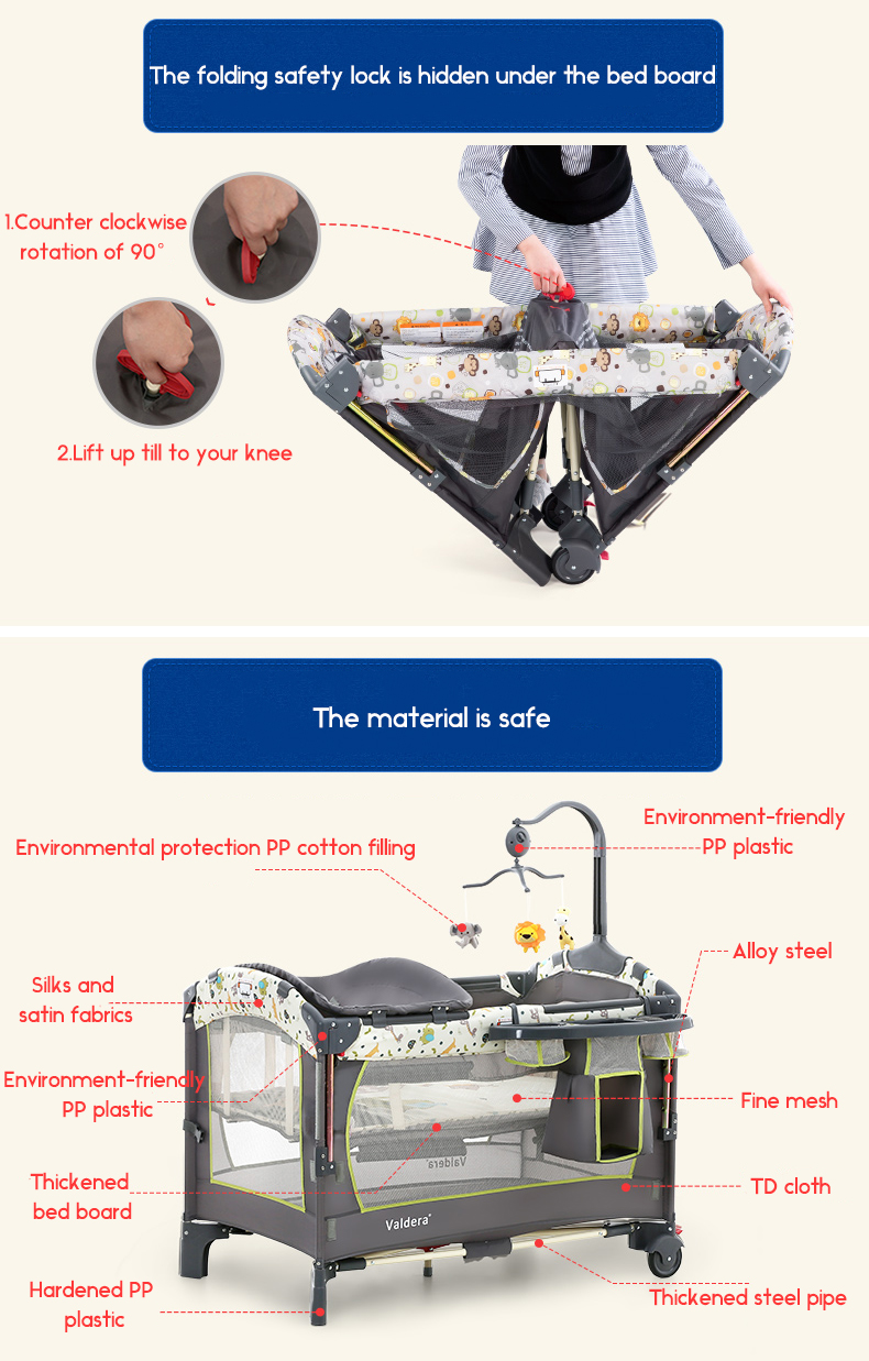Valdera Can Be Docked With A Baby Bed Folding Multi