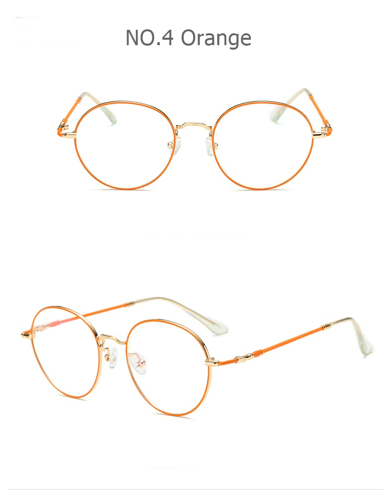 2018 New Stylish  metal colorful  round women optical frame .
