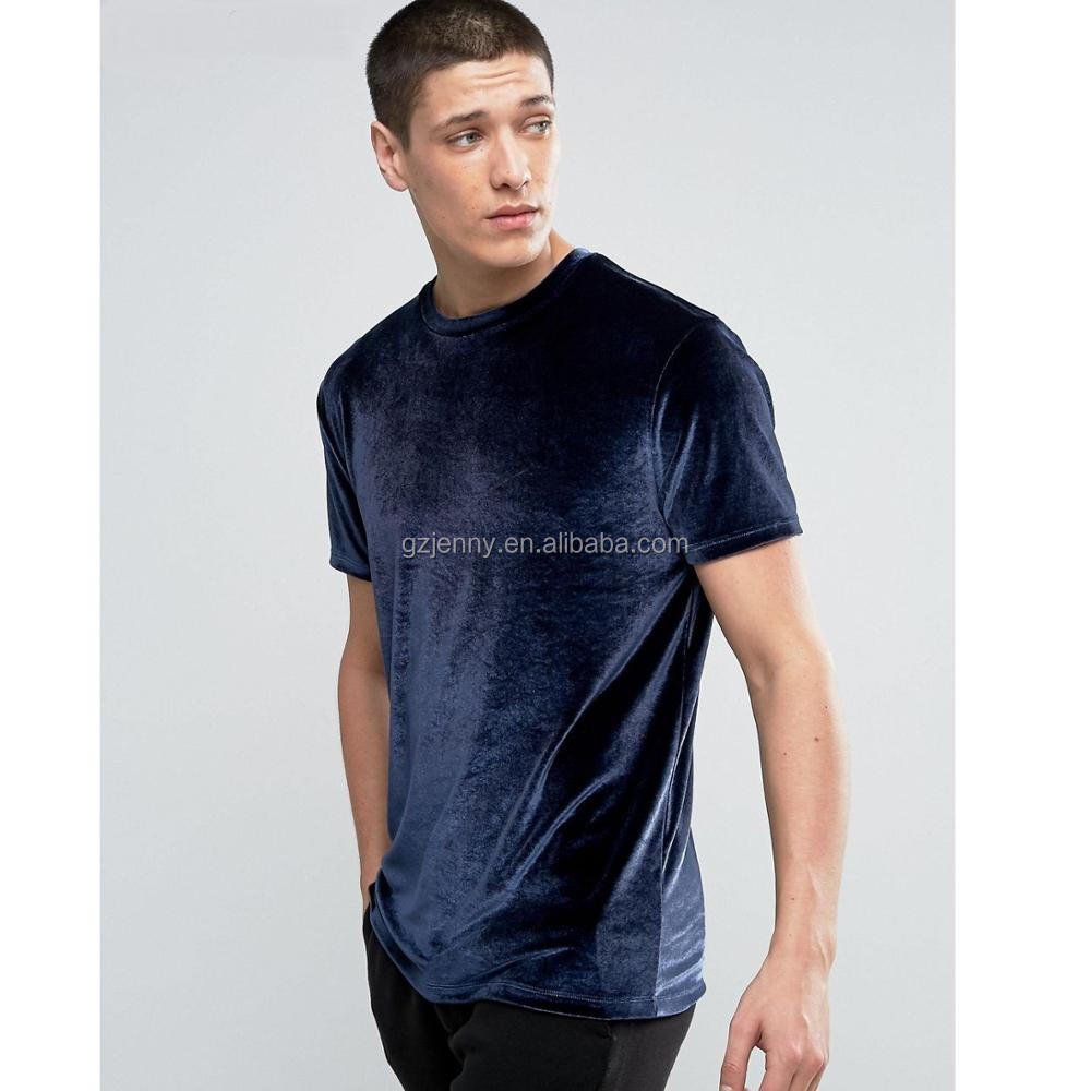 b5e1c3ea2733c0 Längliche Hemden Übergroße erweiterte Tops Schwarz Blau Samt T-Shirt West  Herren Velour TrackuitsT-