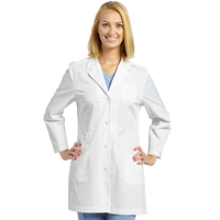 Hospital uniforms doctors working wear white lab coat pharmacy technician long sleeve 4 button lab coats