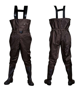 2018 new arrival 420D nylon waterproof lightweight fishing farmer PVC chest waders