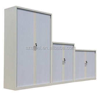 Shenzhen High Quality Tambour Door Steel File Cabinet With 2/3/4 Shelves,