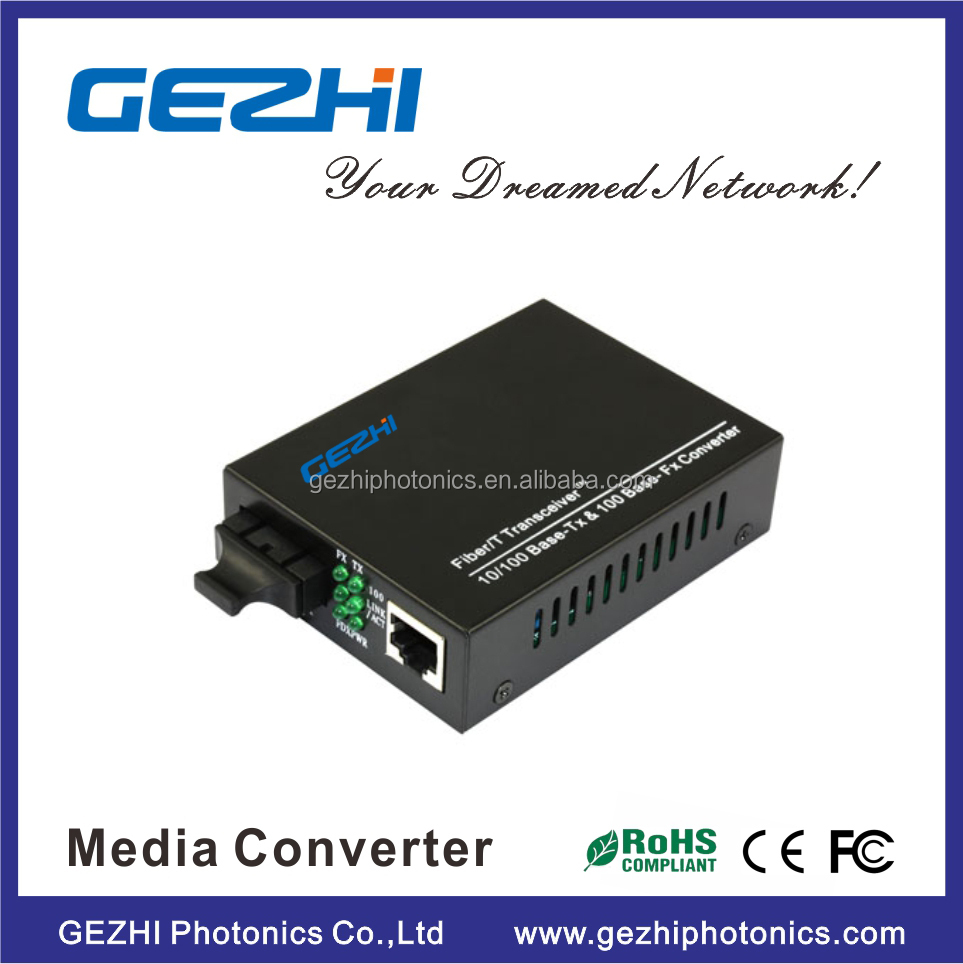 Fiber Media Converter 10/100M SM 1310nm 20KM Single Media Converter for Network&<strong>Communication</strong>