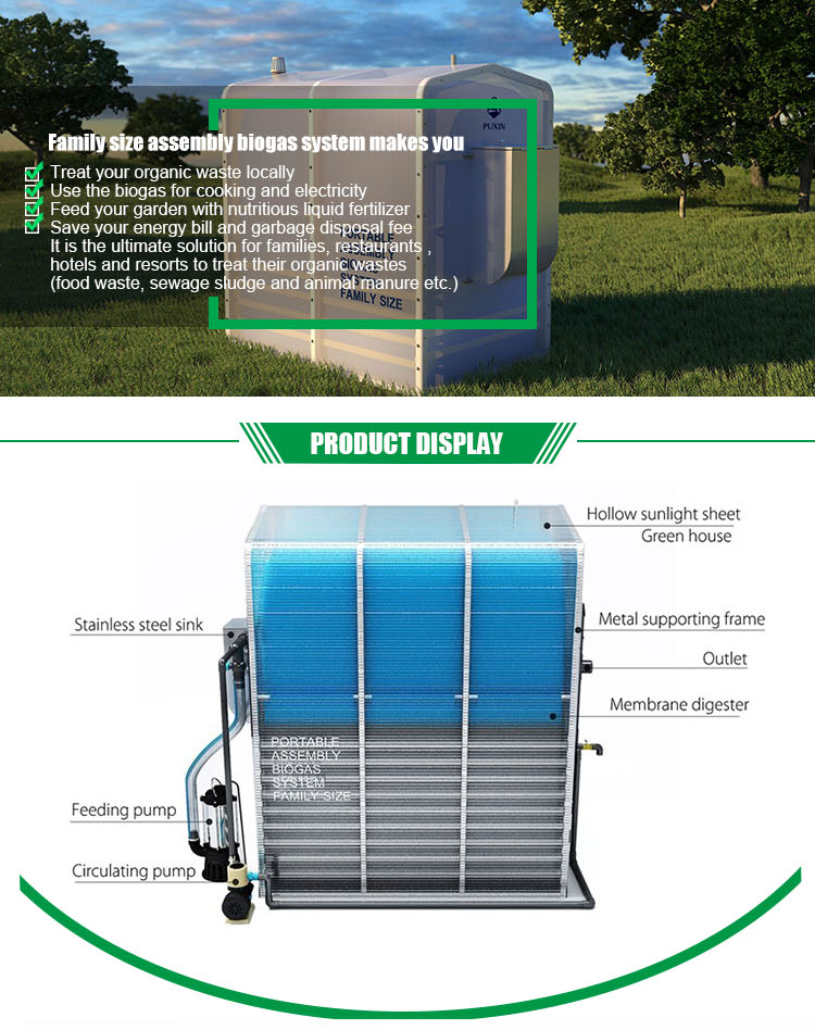 Puxin Small Home Biogas Plant