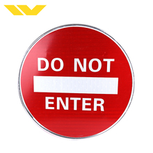 OEM logo printed red road pvc reflective international traffic signs