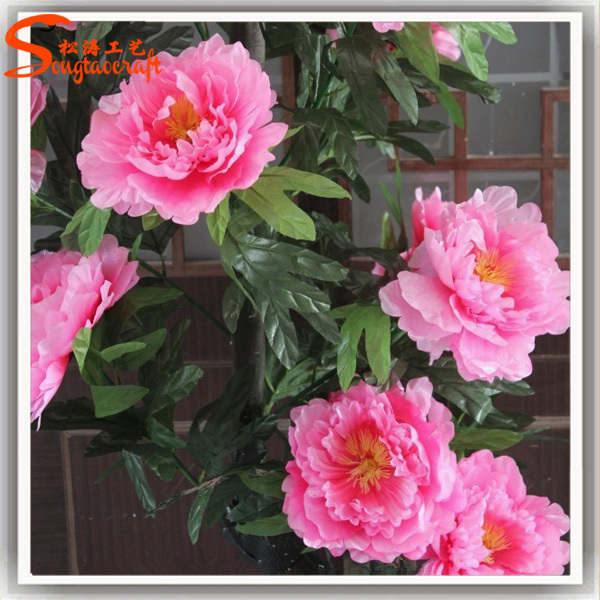 Large Mall Artificial Flower Tree Landing Placed Pink Trees Peony