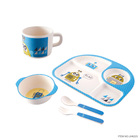 Cheap Round Daily Use Bamboo Dinner Set LFGB Food Grade Eco Friendly Children Tableware Dinnerware Set