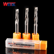 WeiTol 6mm carbide two flutes spiral cutter cnc milling tool bit