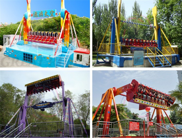 Thrilling fairground rides adults carnival games 20 seats top spin space travel rides for sale